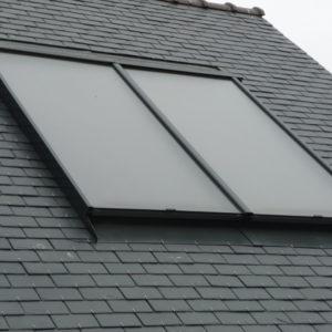 Capteurs solaires en intégration de toiture