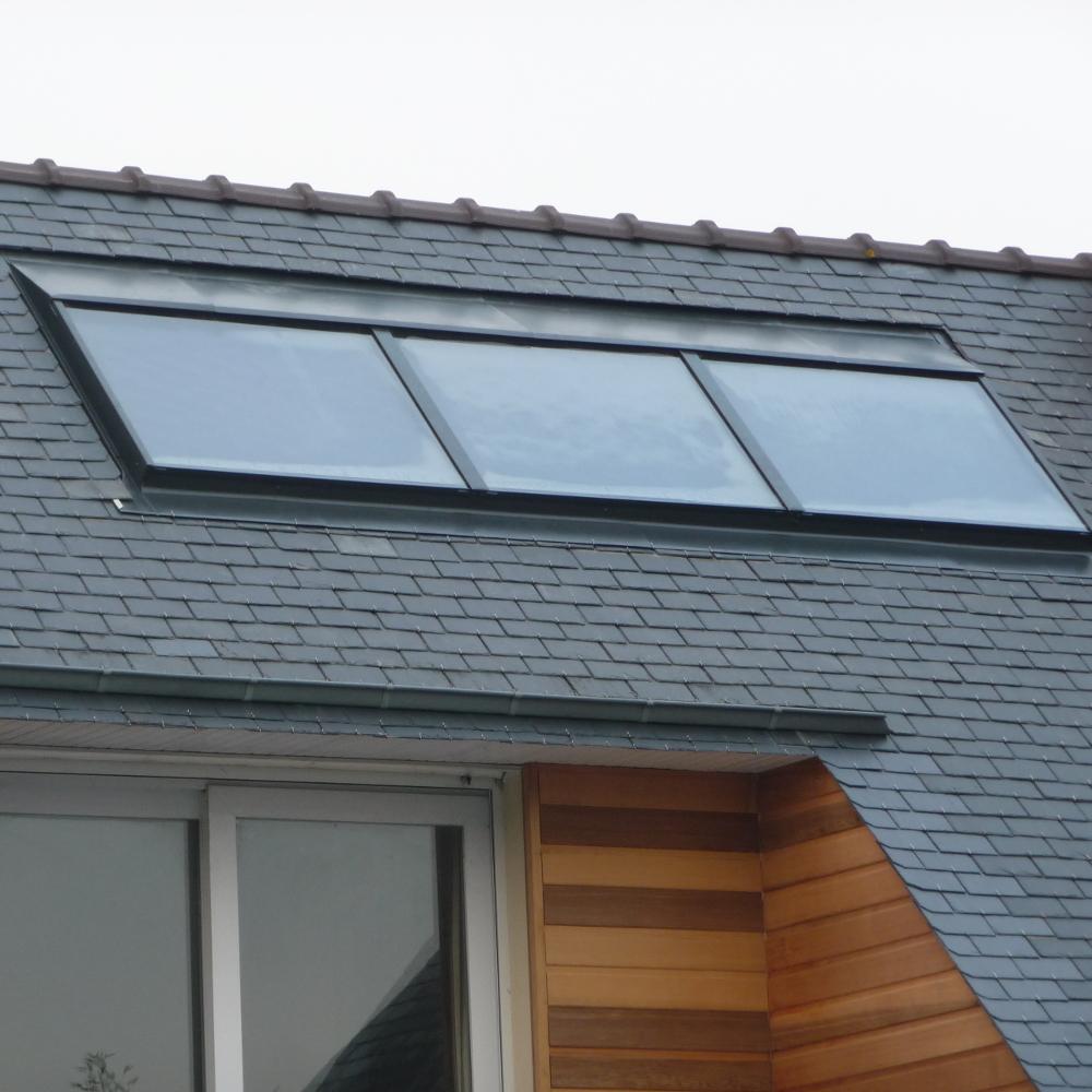 Panneaux solaires thermiques intégrés à la toiture