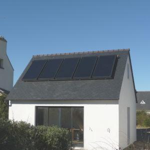 Champ de capteurs solaires de 10 m2