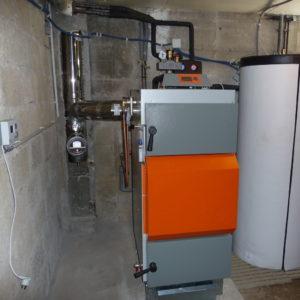 Chaudière à bûches avec hydro-accumulation de 2100 litres